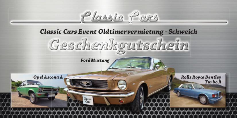 Classic Cars Gutschein - Vorderseite